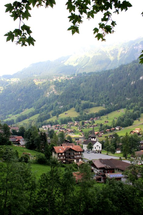 Looking down onto the Lauterbrunnen valley.